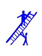 person climbing ladder with assistance